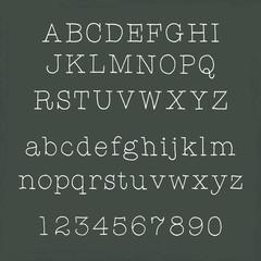 アルファベット・黒板