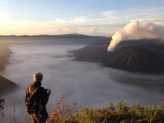 landscape photographer at Mount Bromo