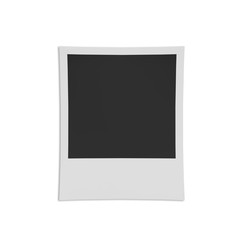 Retro photo frame isolated on white background.