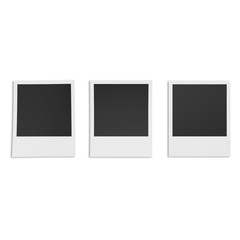 Retro photo frame isolated on white background.