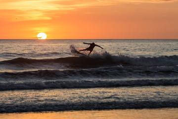 Beautiful sunset in Playa Negra, Costa Rica, Central America.