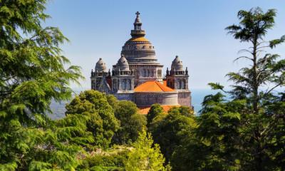 Basilica de Santa Luzia at Monte Santa Luzia near Viana do Castelo, Portugal Fototapete
