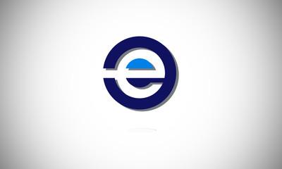 e letter logo icon
