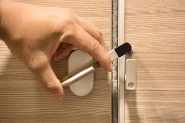 Doorknob with hand