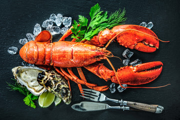Wall Mural - Shellfish plate of crustacean seafood