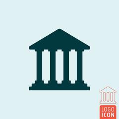 Bank icon isolated