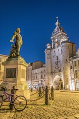 Grosse Horloge de La Rochelle et Statue Duperré