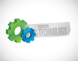 education technology gear sign concept