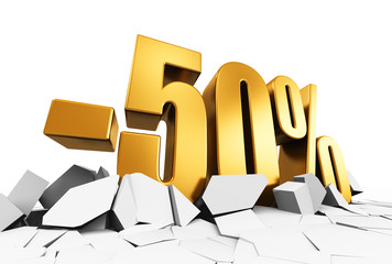 50 percent sale and discount advertisement concept