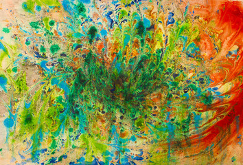 chaotic abstract painting