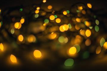 Defocused bokeh lights effect in night