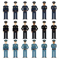 Set of police men