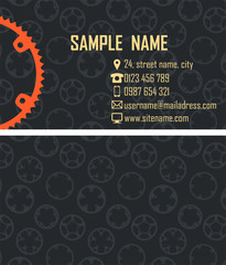 Double face business card vector template