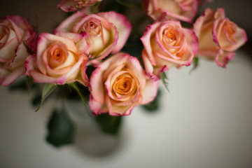 Rose, bunch of roses, bouquet of roses, selective focus