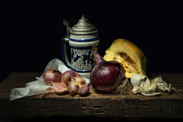 Still life with a beer stein