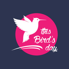 Bird's day holiday illustration