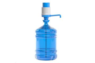 Drinking Water bottle with pump dispenser, 3D rendering