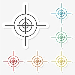 Multicolored paper stickers - Crosshair set