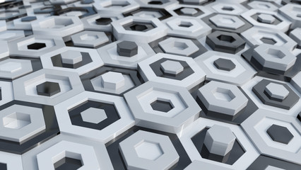 Hex Abstract Background