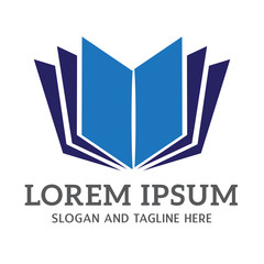 reading book paper logo