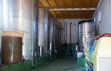 Small contemporary  winery factory