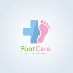Foot care logo. foot spa logo template.