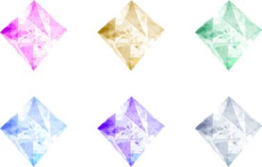 The diamond shaped crystal icons