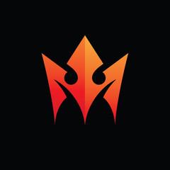 Abstract Crown Logo Concept