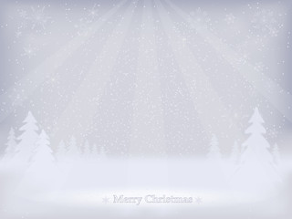 Abstract winter landscape background