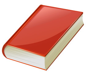 Textbook with red covers