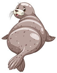 Seal with happy face