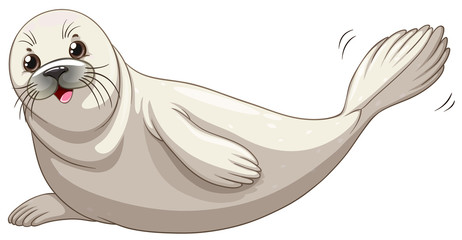 Seal with white skin smiling