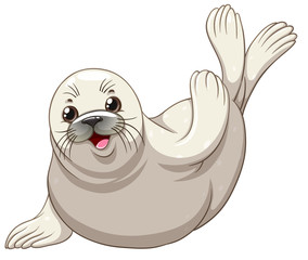 Seal with white skin greeting