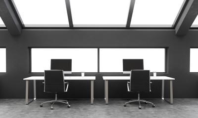 Black coworking area