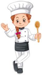 Female chef in uniform