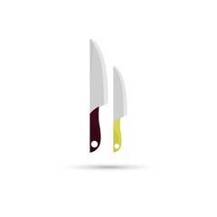 Color illustration of pair knifes icon