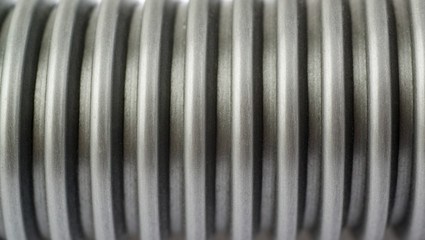 Part of Hand held small vacuum cleaner hose as texture background