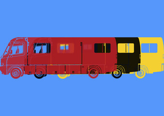 Camping-car van pop art