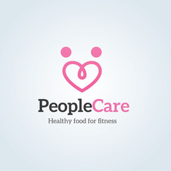people care logo. love logo,family logo template
