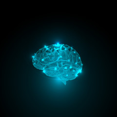 Abstract concept of human brain activity.