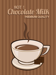 Milk Chocolate Poster. Isolated Vector