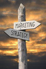 Marketing and strategy signpost