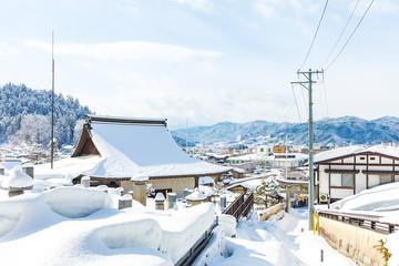 Wall Mural - Winter in Takayama ancient city in Japan