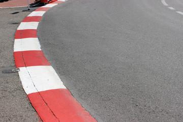 Texture of Motor Race Asphalt and Curb on Monaco GP