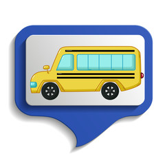Urban transport's map sign icon, cartoon style