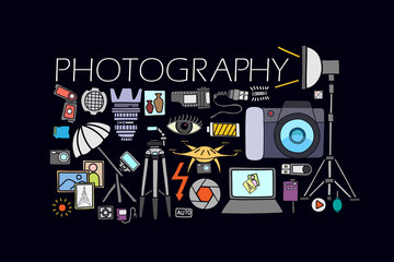 Photography concept for web design template