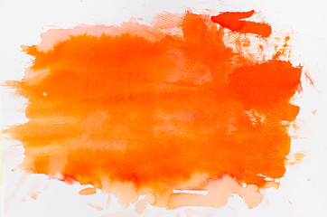watercolor orange painted background