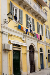 Traditional houses in Corfu island, Greece