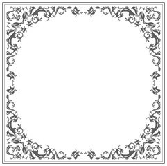 Circle frame with classic elements