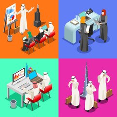 Arabian Business Isometric People